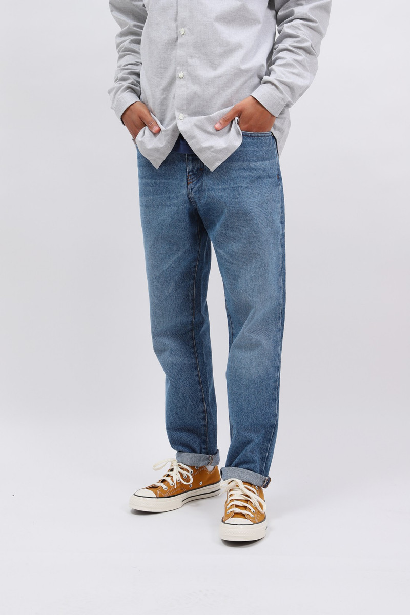 Jean tapered fit Bleu used