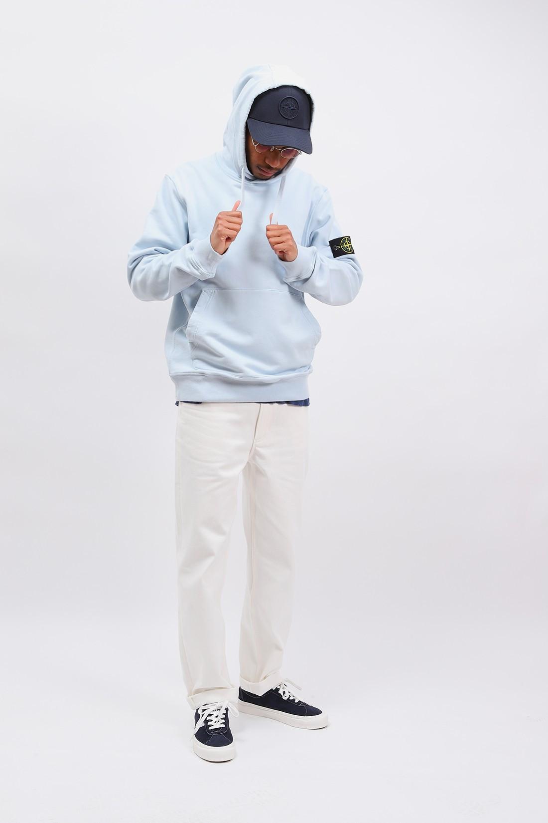 STONE ISLAND / 64151 hooded sweater v0041 Cielo