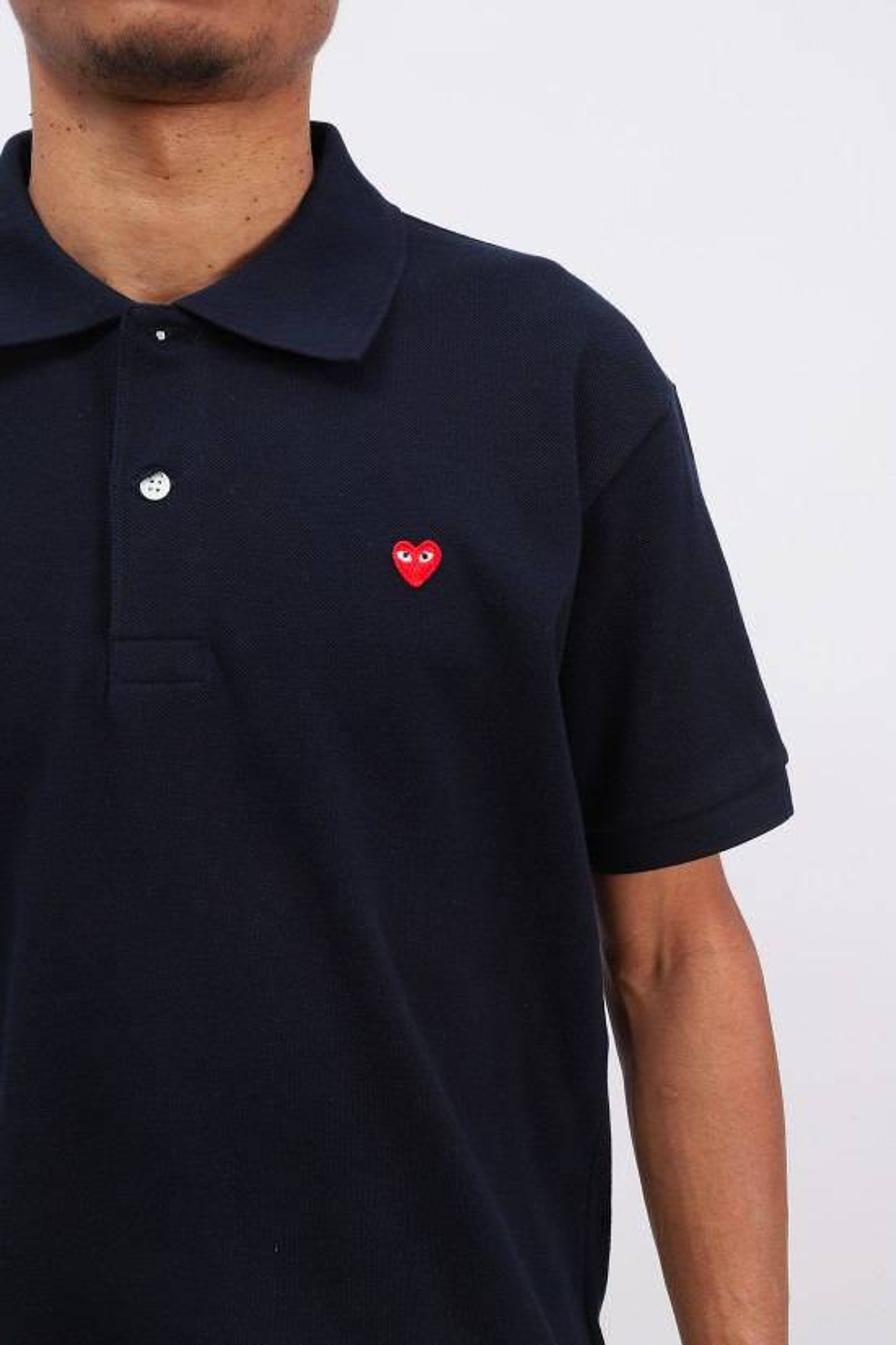 COMME DES GARÇONS PLAY / Play little red heart polo Navy