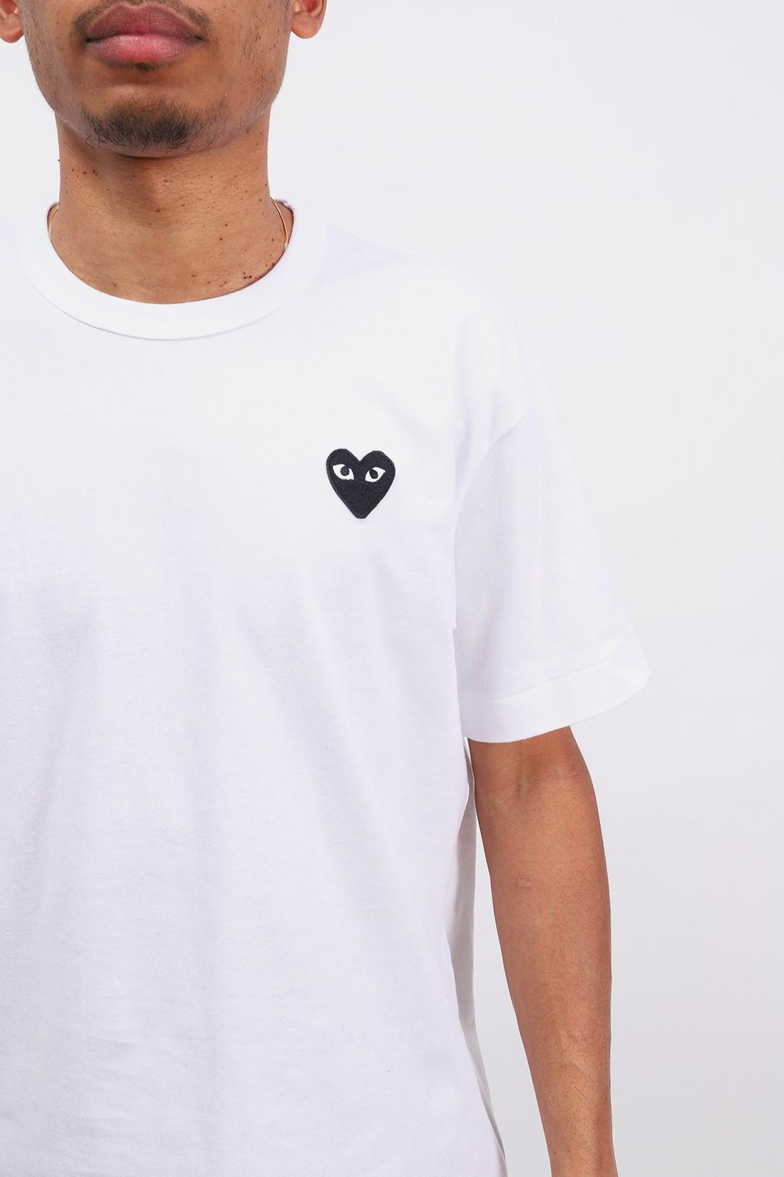 COMME DES GARÇONS PLAY / Black play t-shirt White