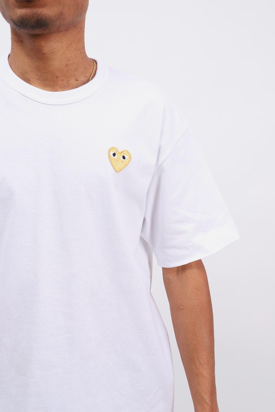 COMME DES GARÇONS PLAY / Play gold heart t-shirt White