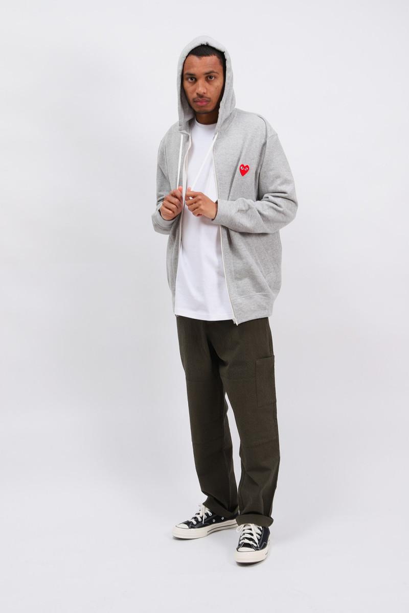 Play hooded zipped sweatshirt Grey