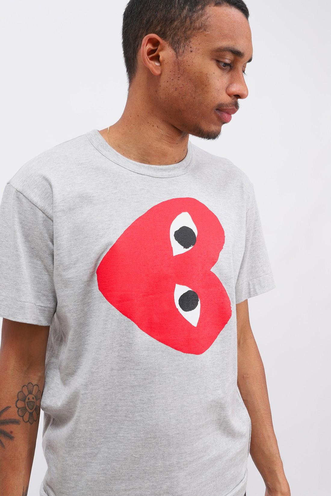 COMME DES GARÇONS PLAY / Play red heart ls Grey
