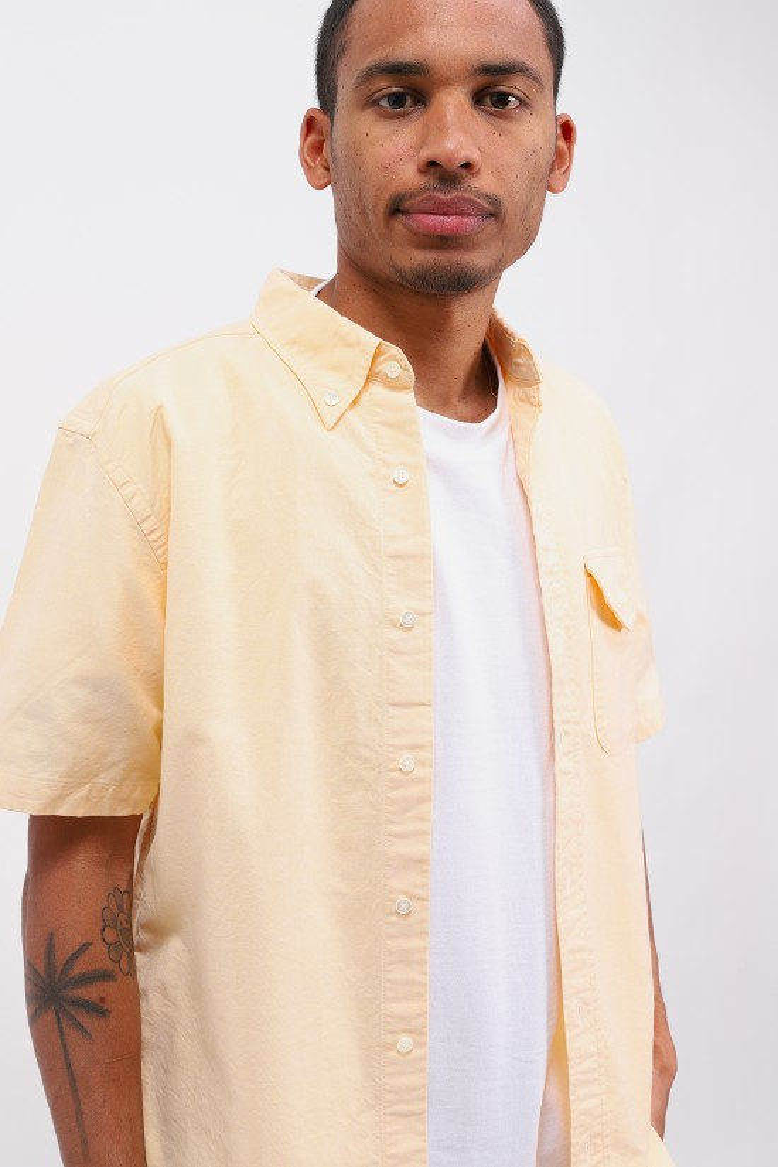 BEAMS PLUS / Short sleeve b.d oxford Yellow