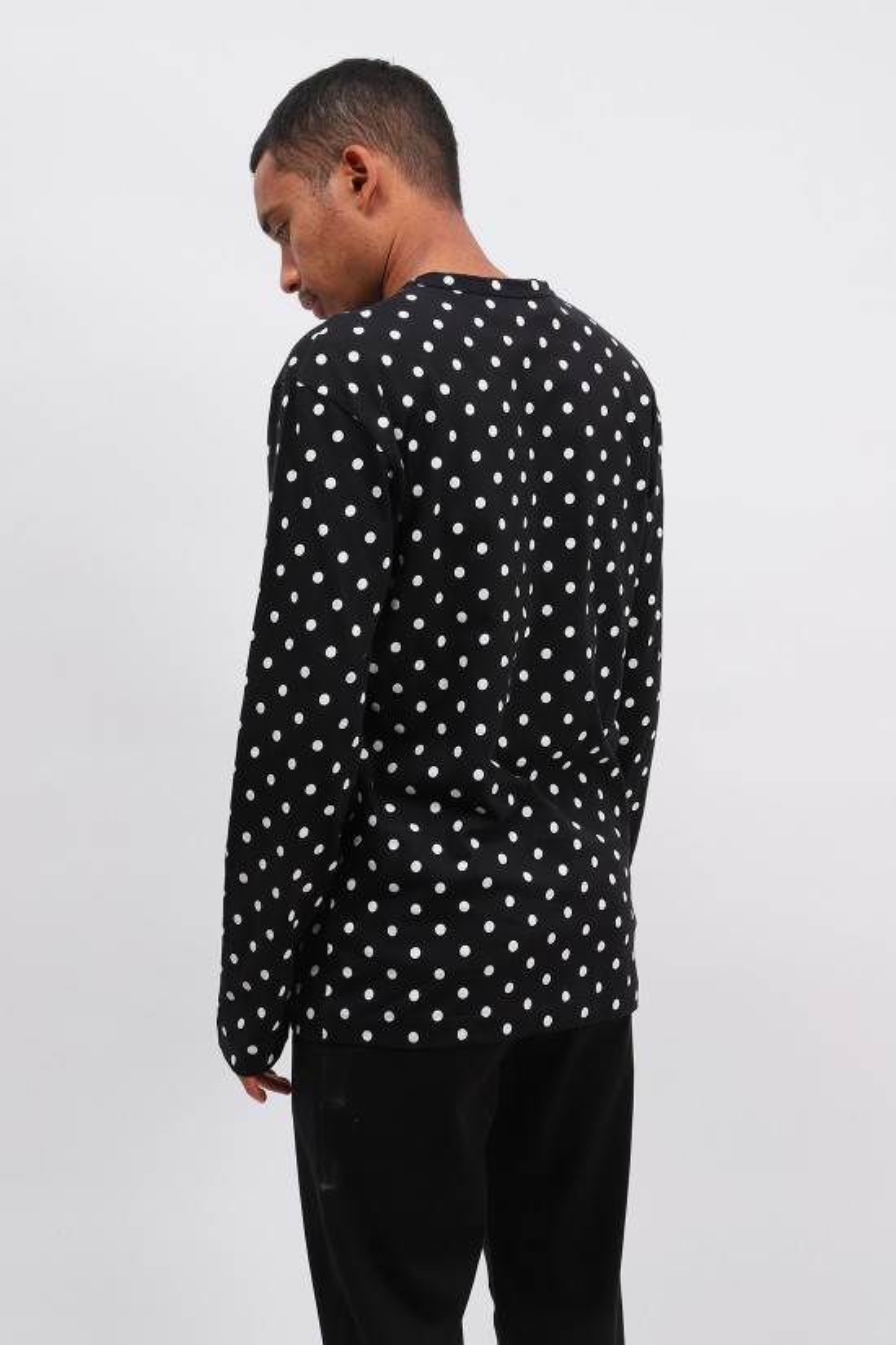 COMME DES GARÇONS PLAY / Play polka dot t-shirt Black white