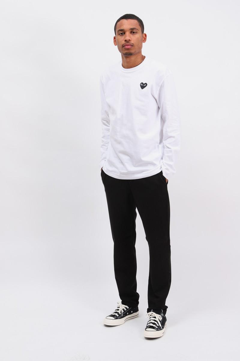 Black play ls t-shirt White