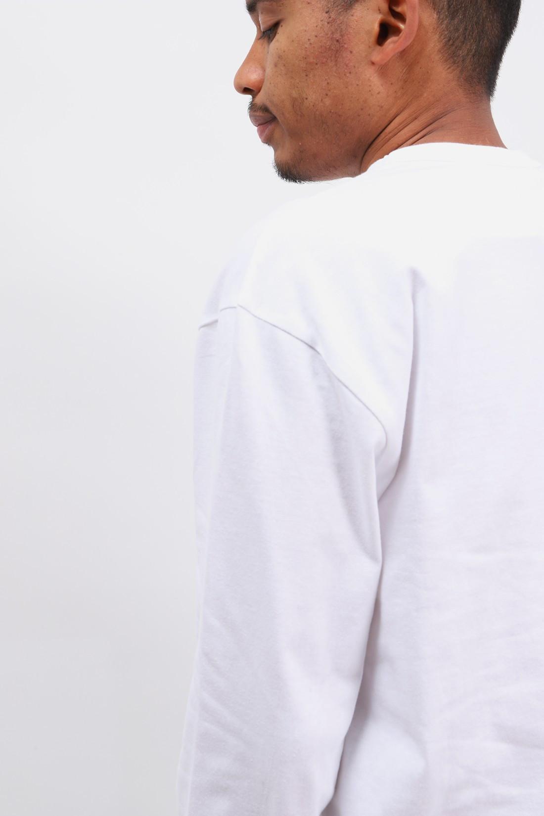 COMME DES GARÇONS PLAY / Black play ls t-shirt White