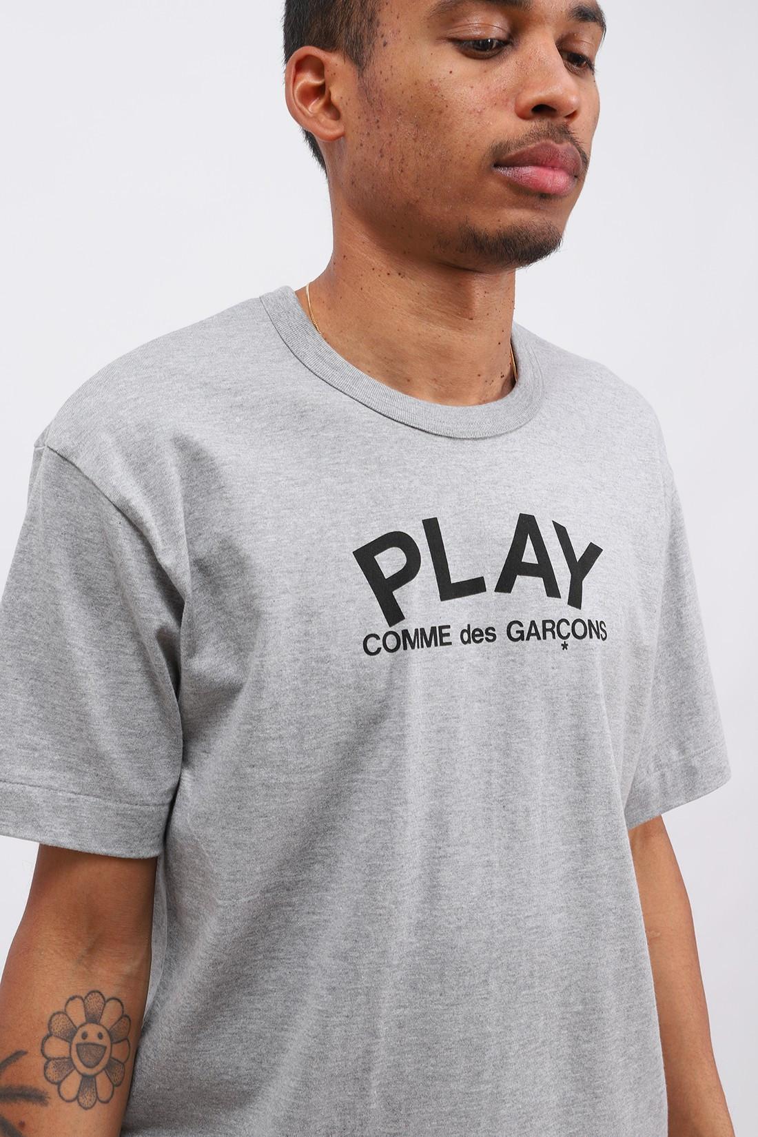 COMME DES GARÇONS PLAY / Play logo t-shirt Grey
