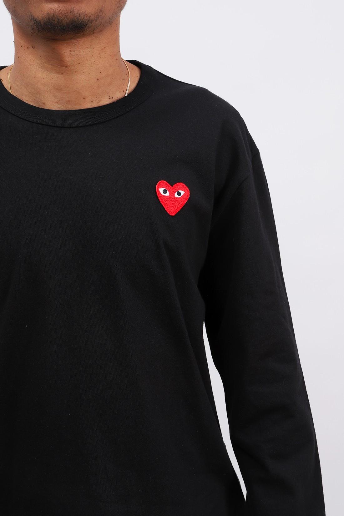 COMME DES GARÇONS PLAY / Red play ls t-shirt Black