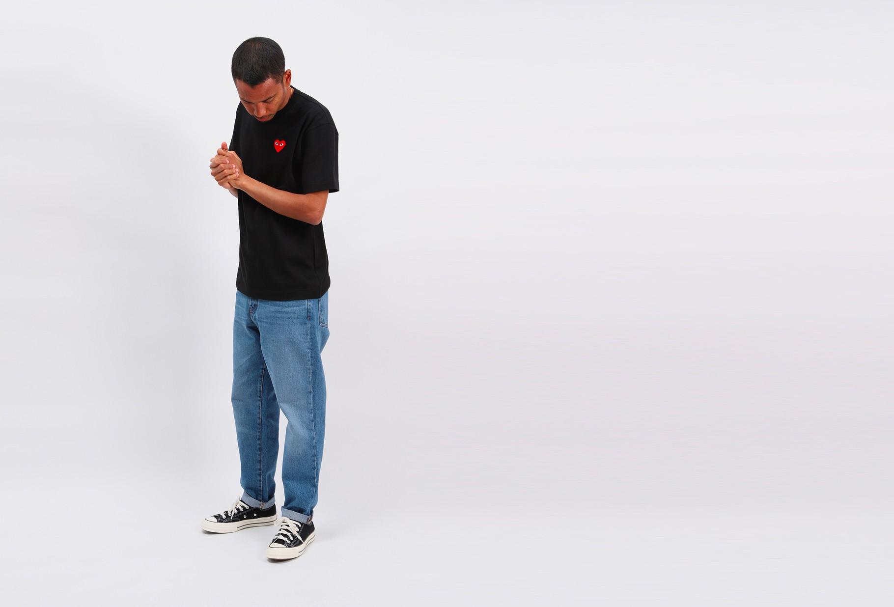 COMME DES GARÇONS PLAY / Red play t-shirt Black