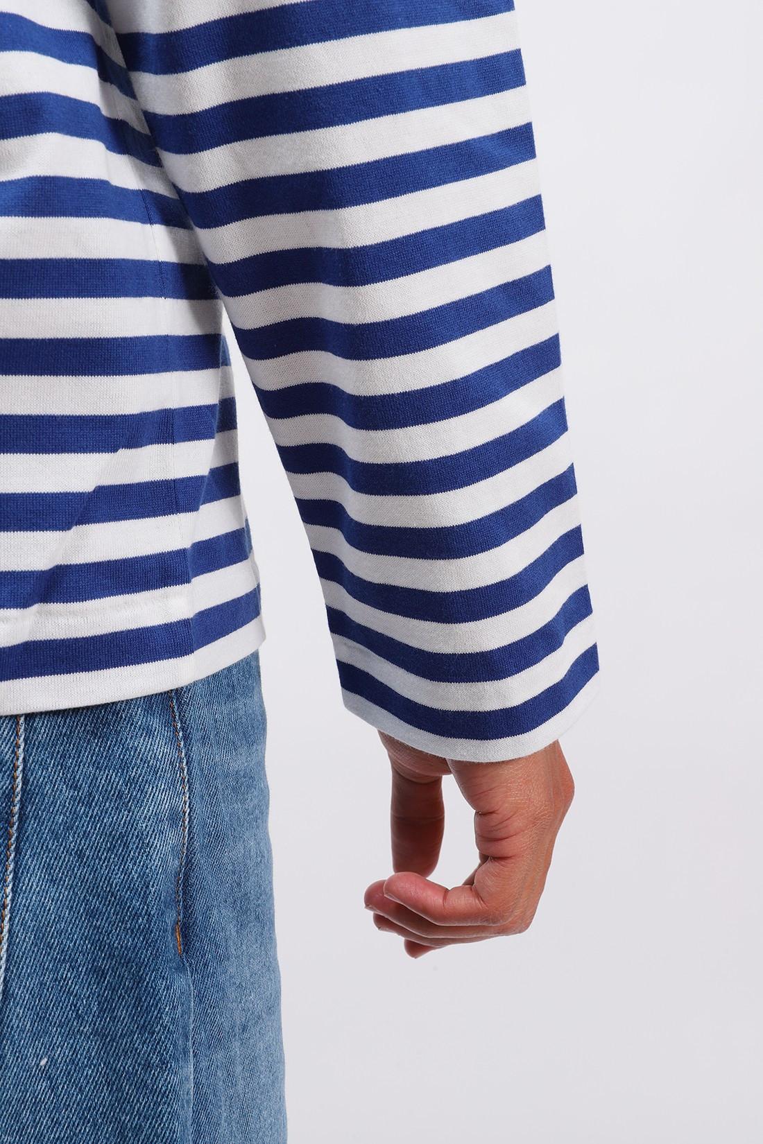 COMME DES GARÇONS PLAY / Play striped t-shirt Navy white