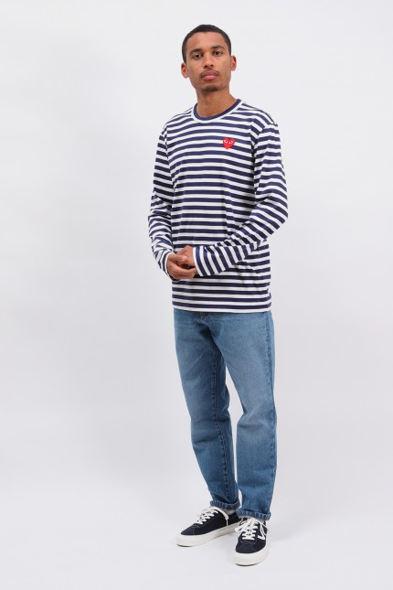 Play striped t-shirt Navy / white