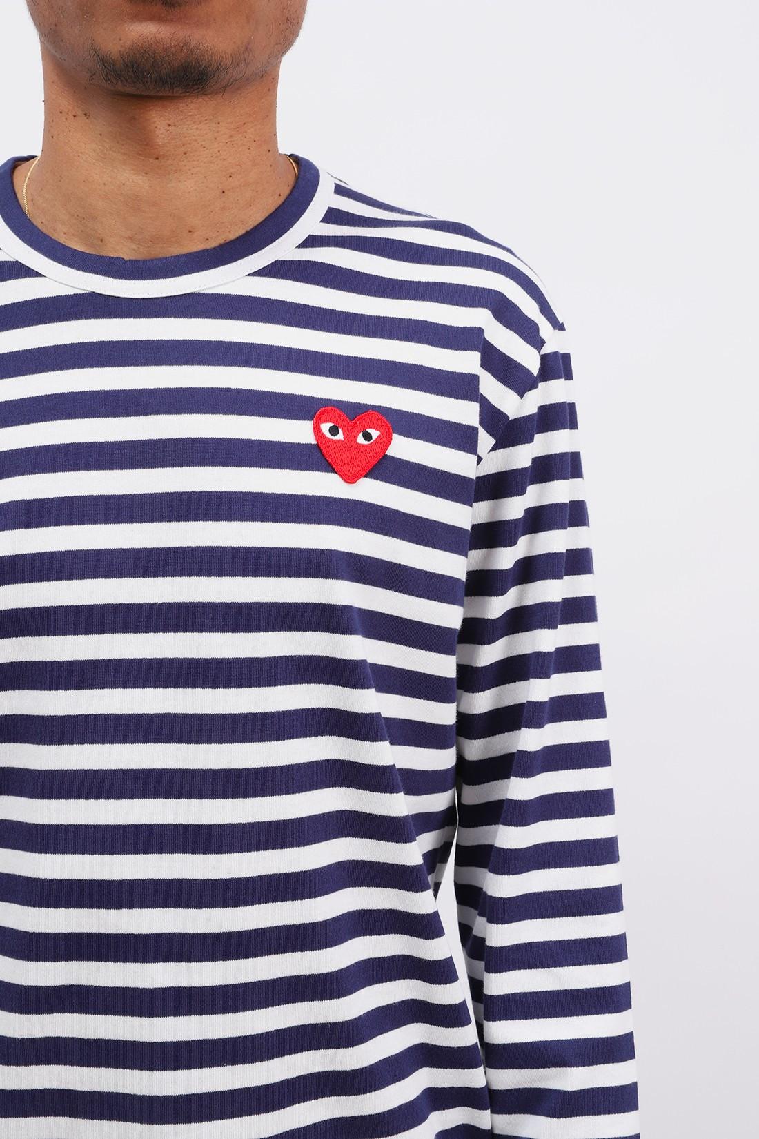 COMME DES GARÇONS PLAY / Play striped t-shirt Navy / white