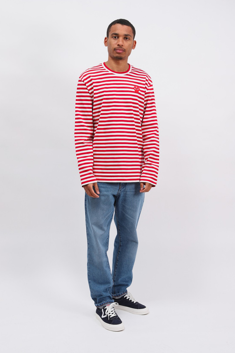 Play striped t-shirt Red white