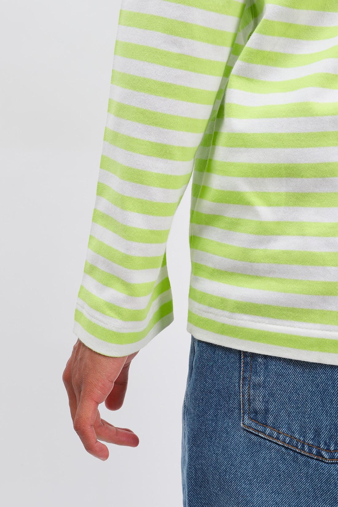 COMME DES GARÇONS PLAY / Play striped t-shirt Green white