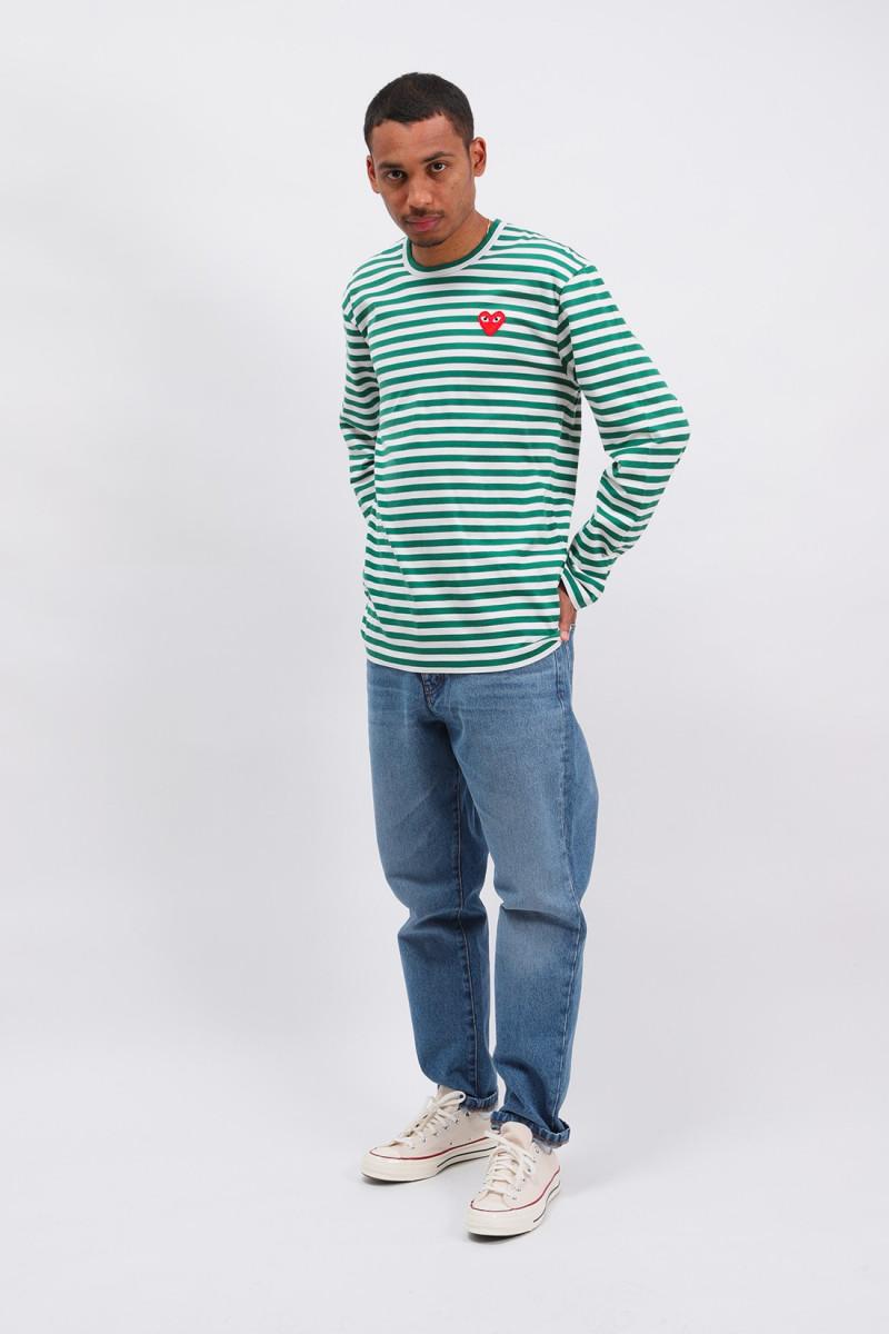 Play striped t-shirt Green white