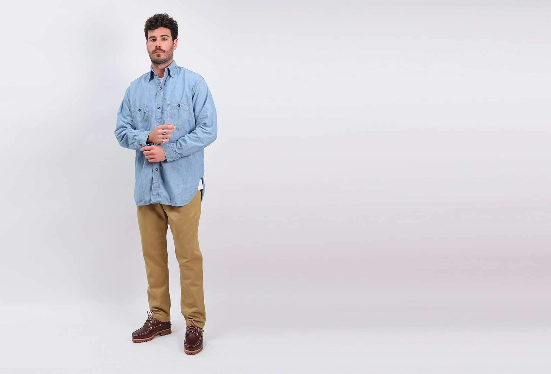 ORSLOW / Vintage fit work shirt Used chambray