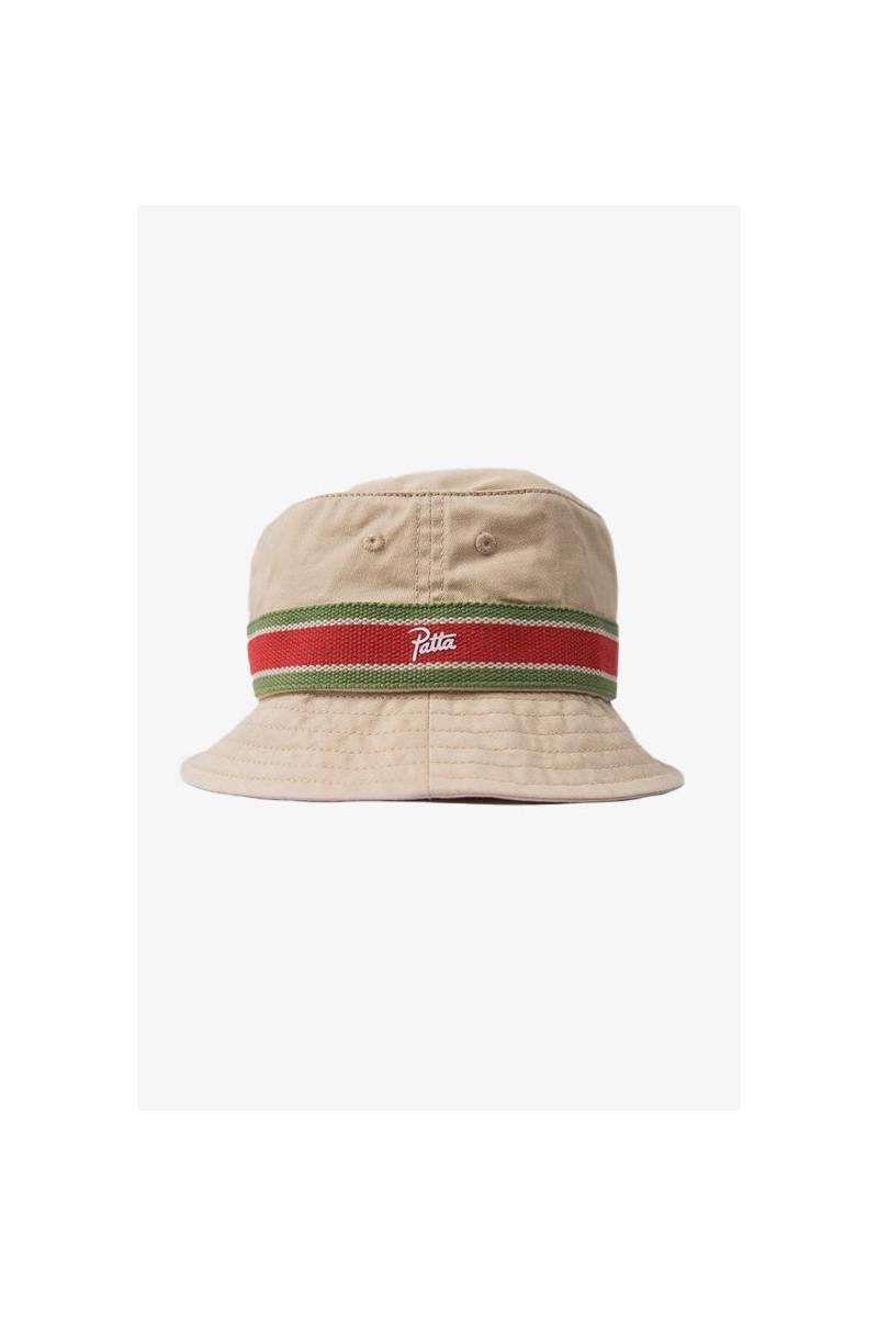 Patta striped bucket hat Oyster grey