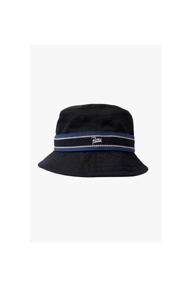 Patta striped bucket hat Black