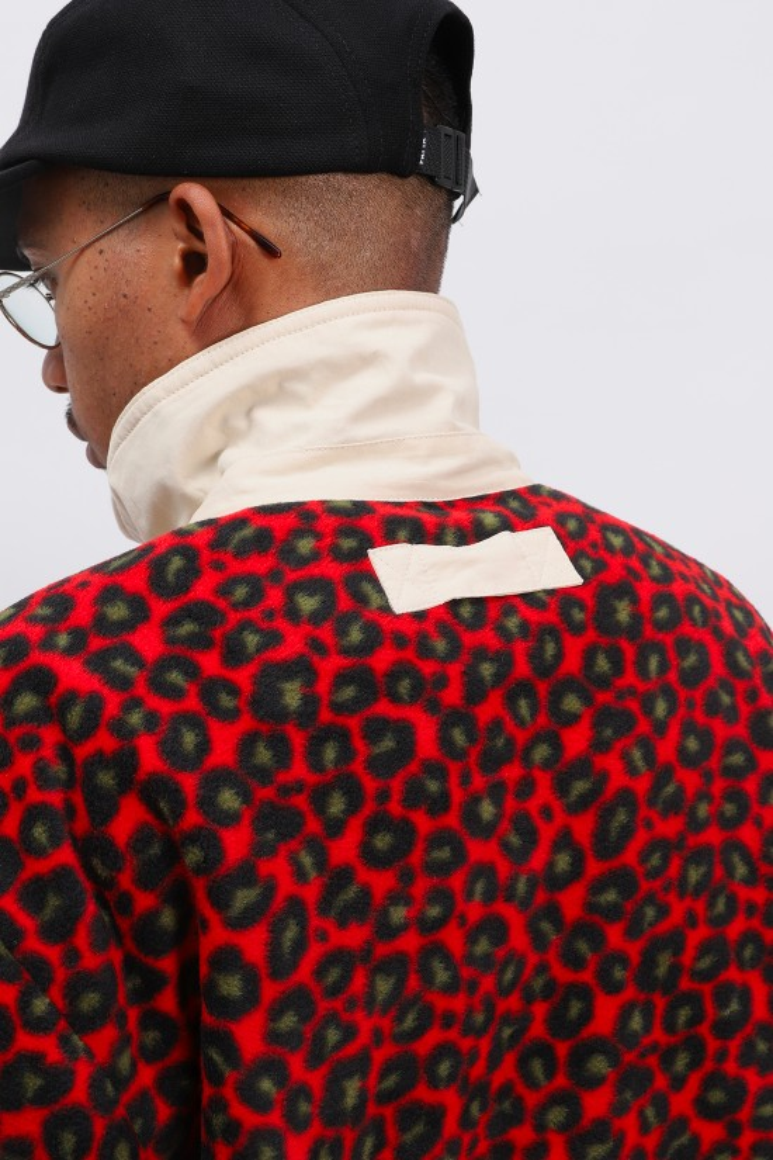 PATTA / Patta reversible jacket Grey/red leopard