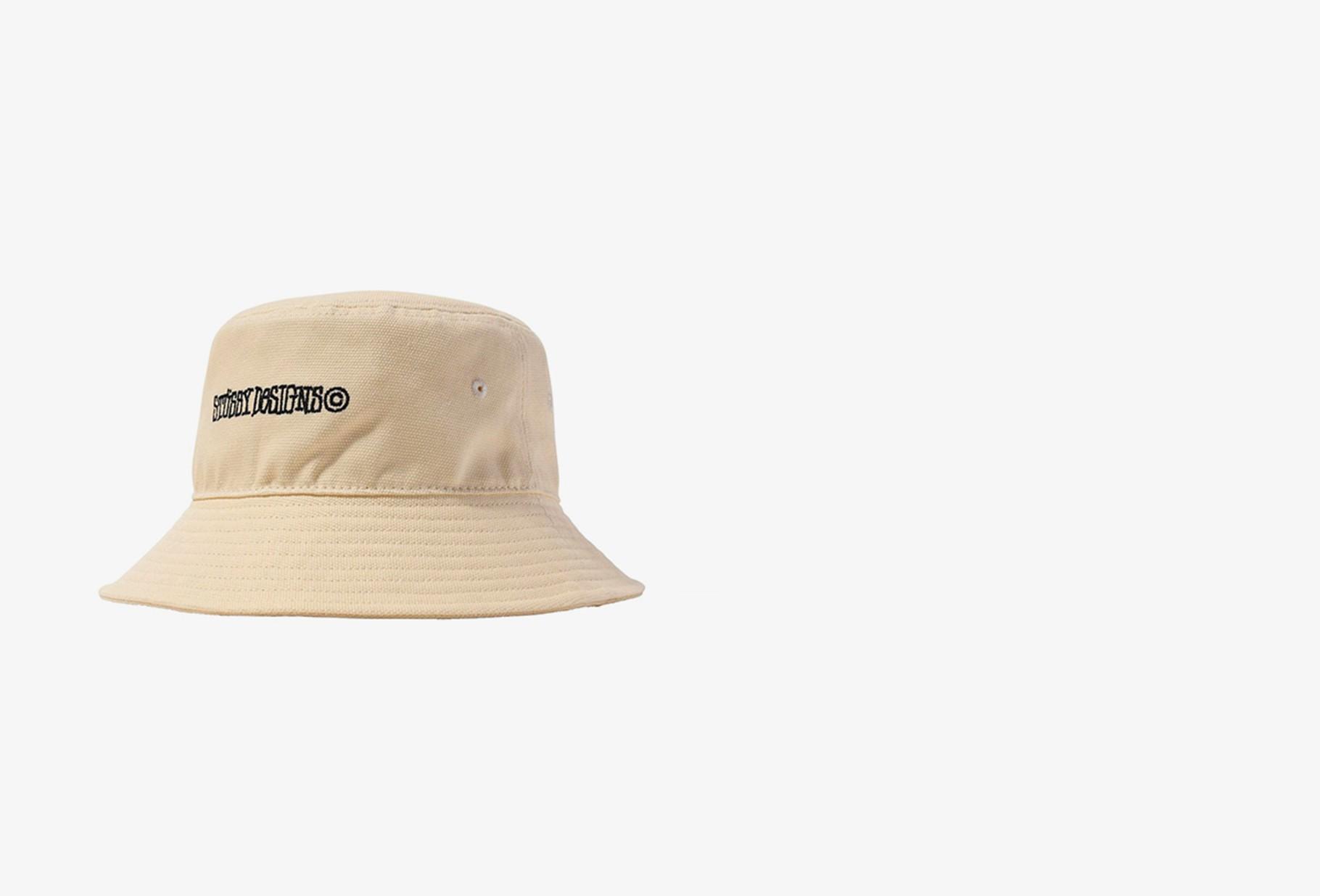STUSSY / Canvas wide brim bucket hat Natural