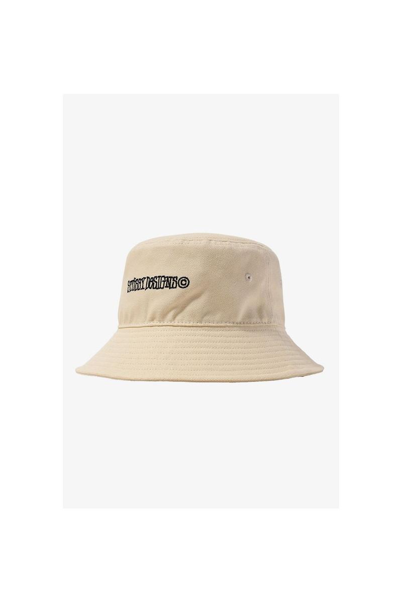 Canvas wide brim bucket hat Natural