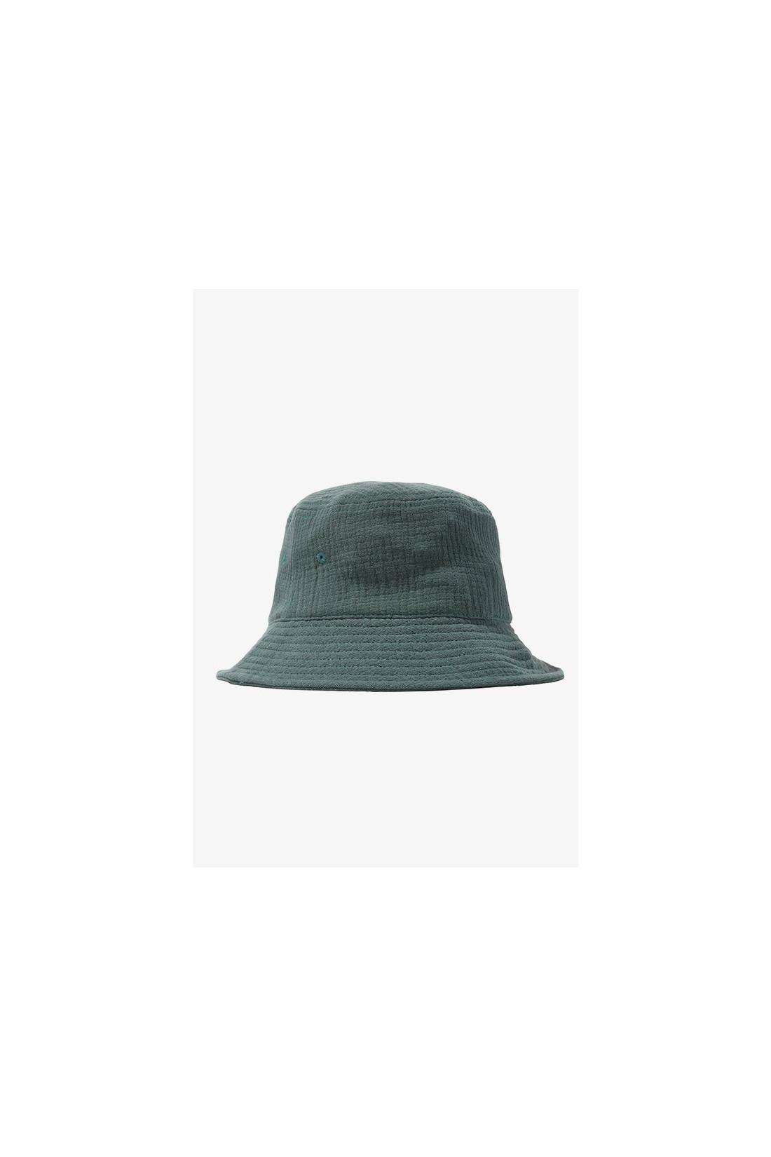 STUSSY / Gauze cotton big logo bucket Teal
