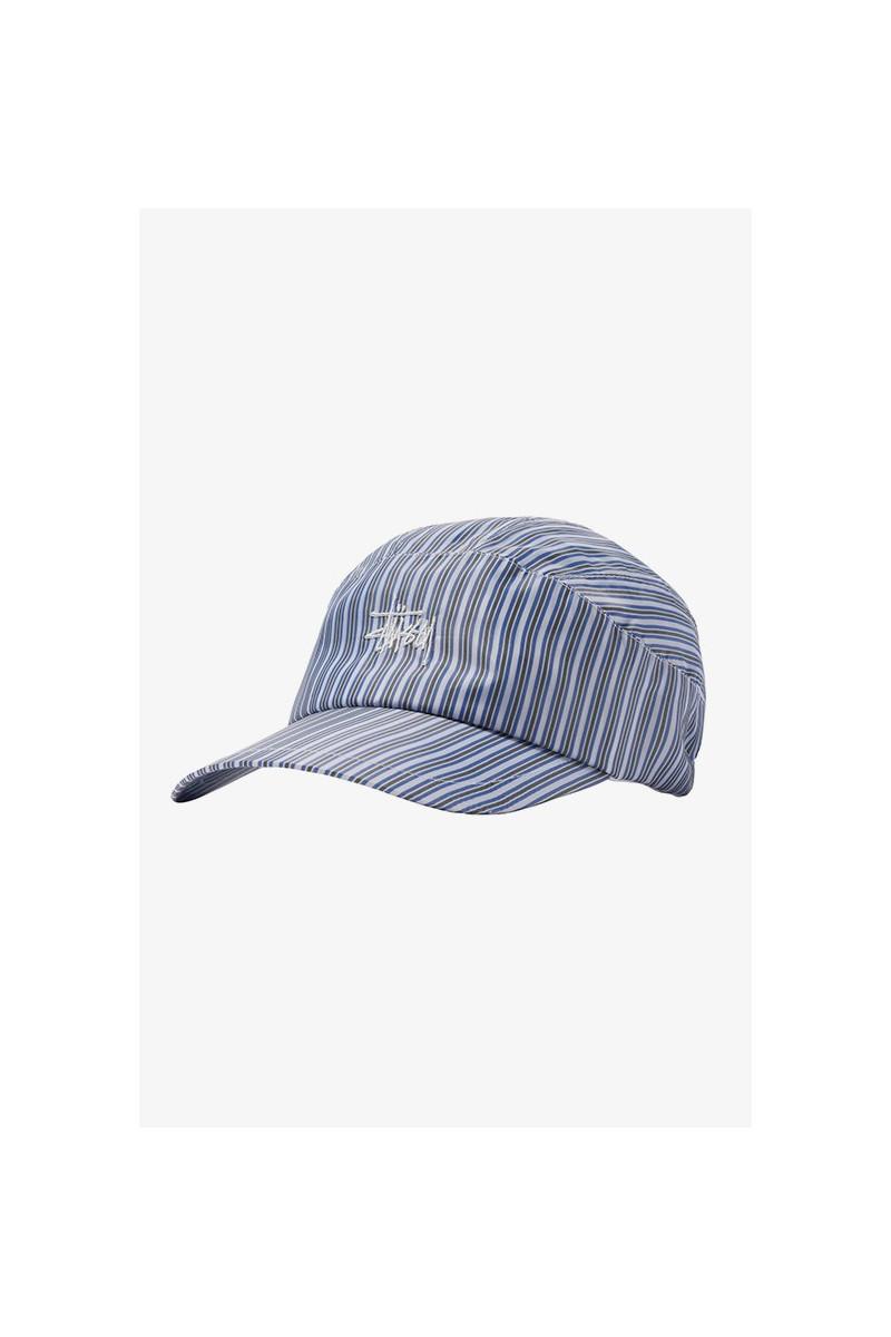 Shirting stripe runner cap Blue