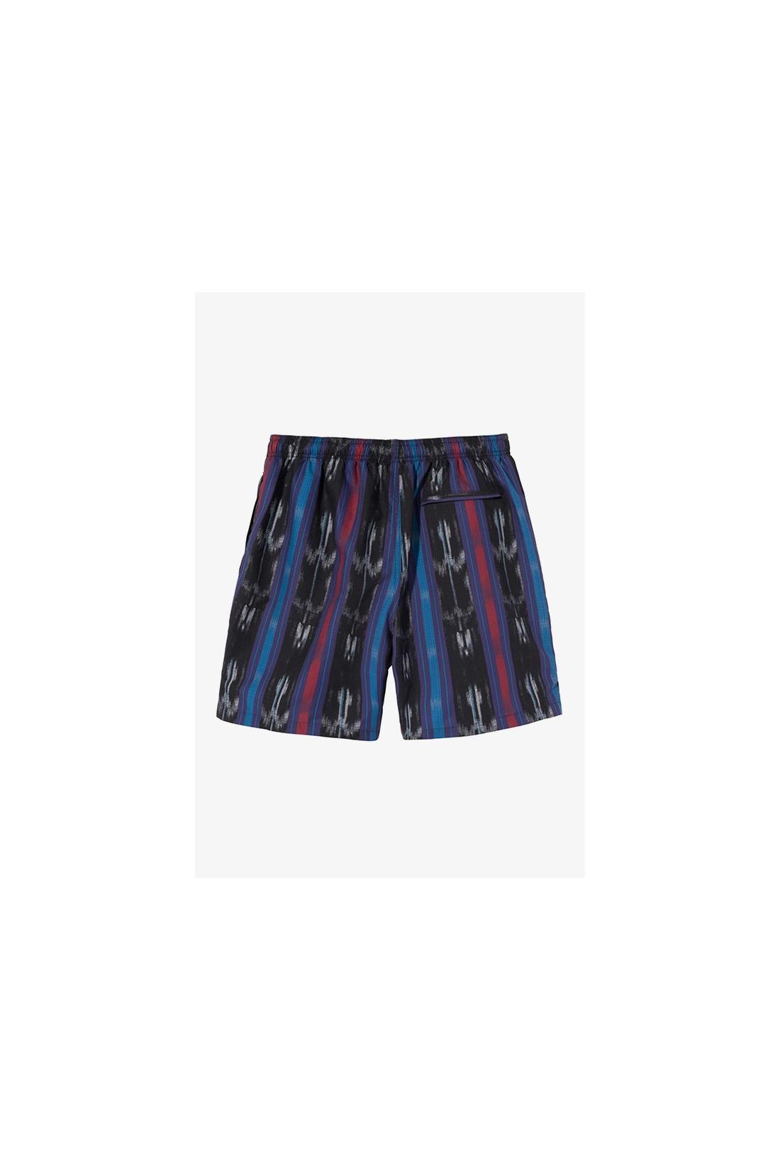 STUSSY / Ikat stripe water short Black