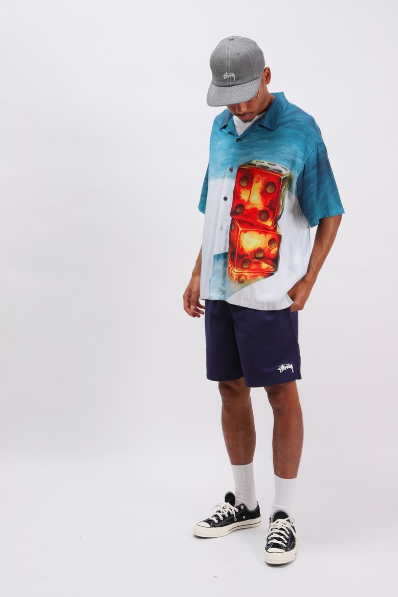 Dice painting shirt Blue