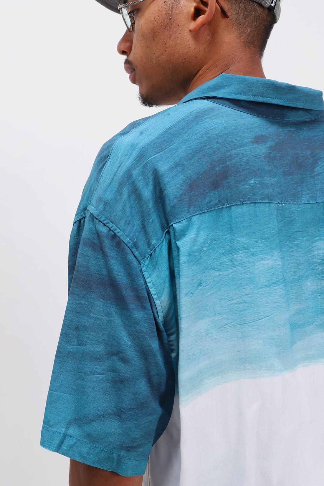 STUSSY / Dice painting shirt Blue