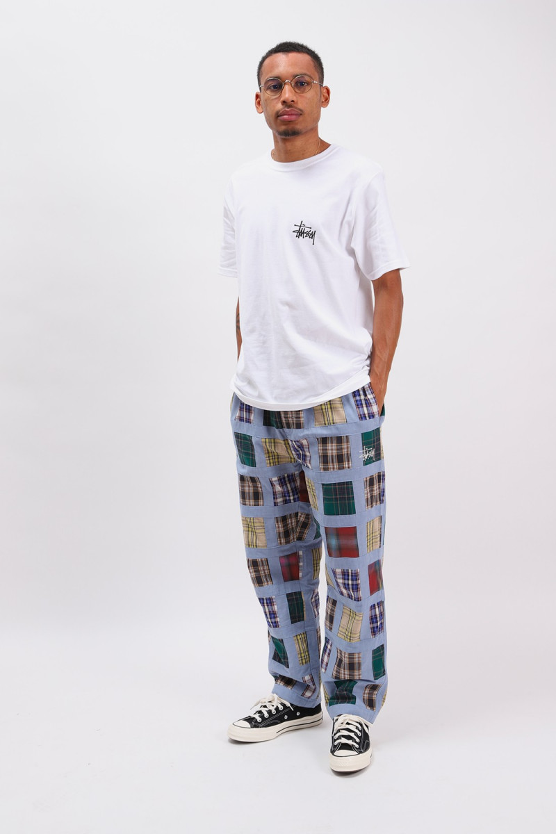Madras patchwork relaxed pant Plaid
