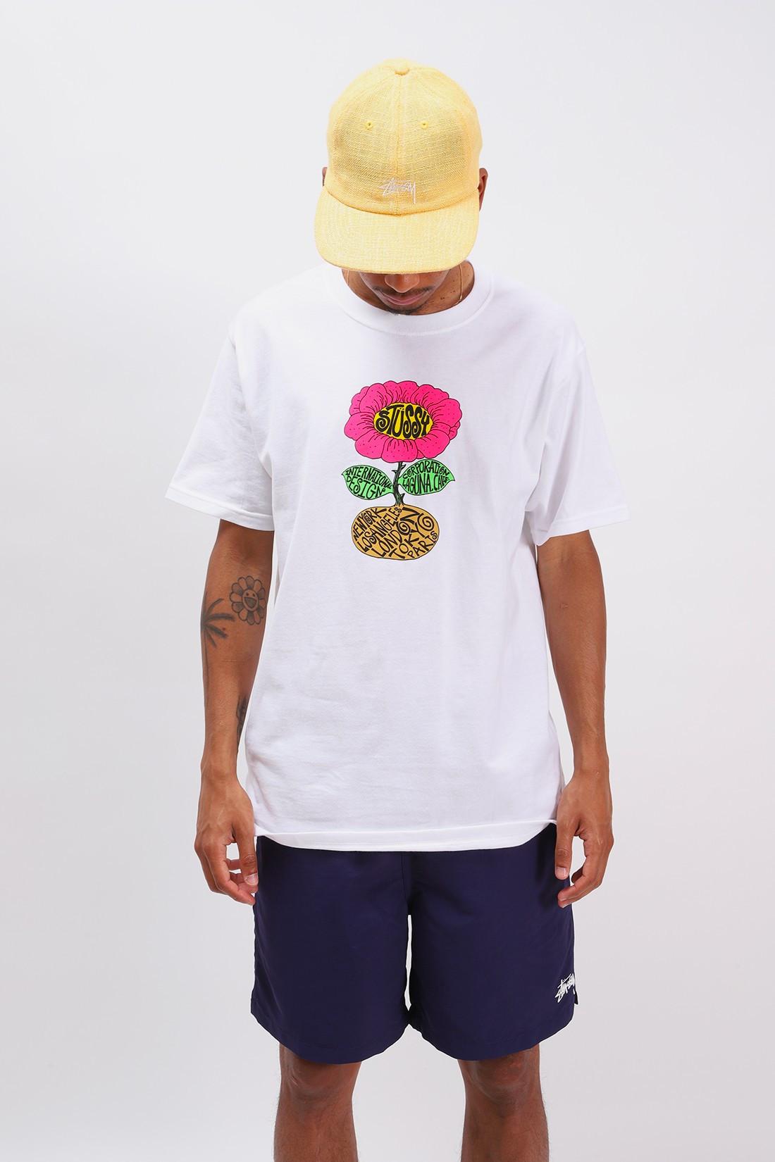 STUSSY / Sunflower tee White