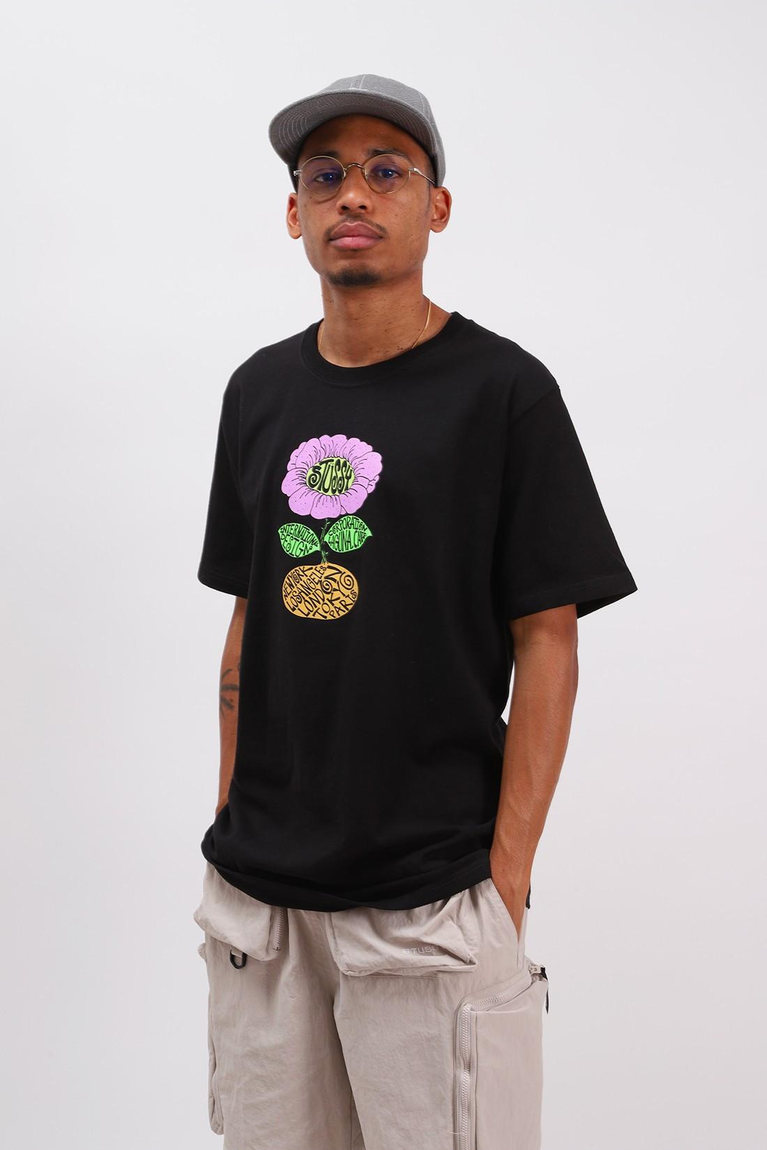 STUSSY / Sunflower tee Black