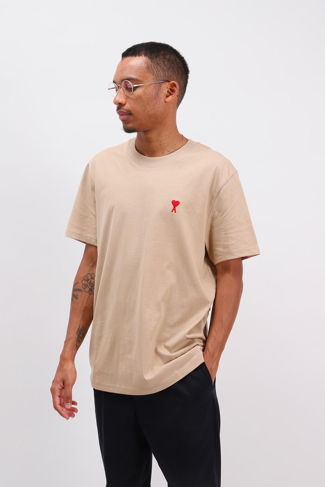 AMI / T-shirt ami de coeur Beige