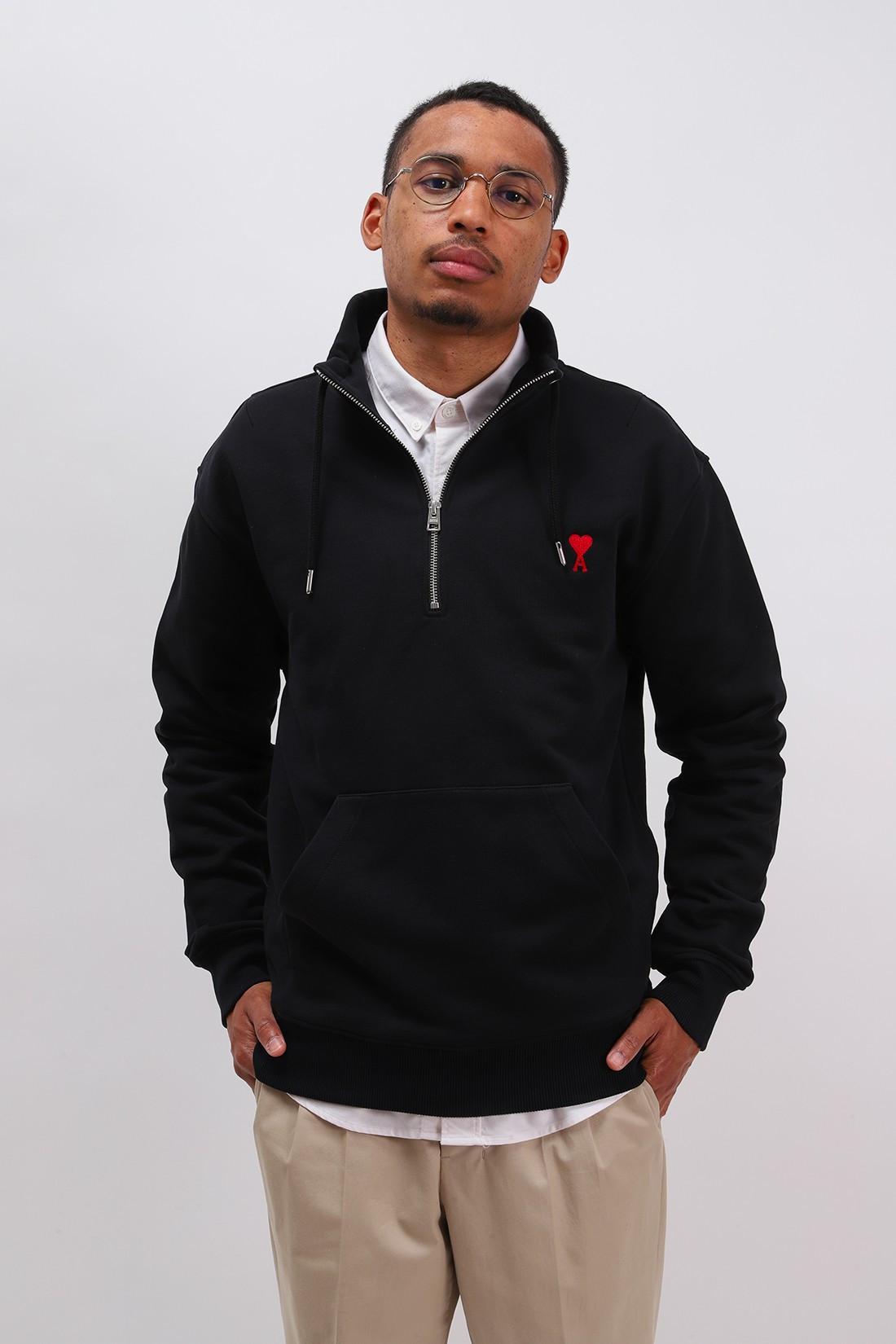 AMI / Sweatshirt zippe ami de coeur Noir
