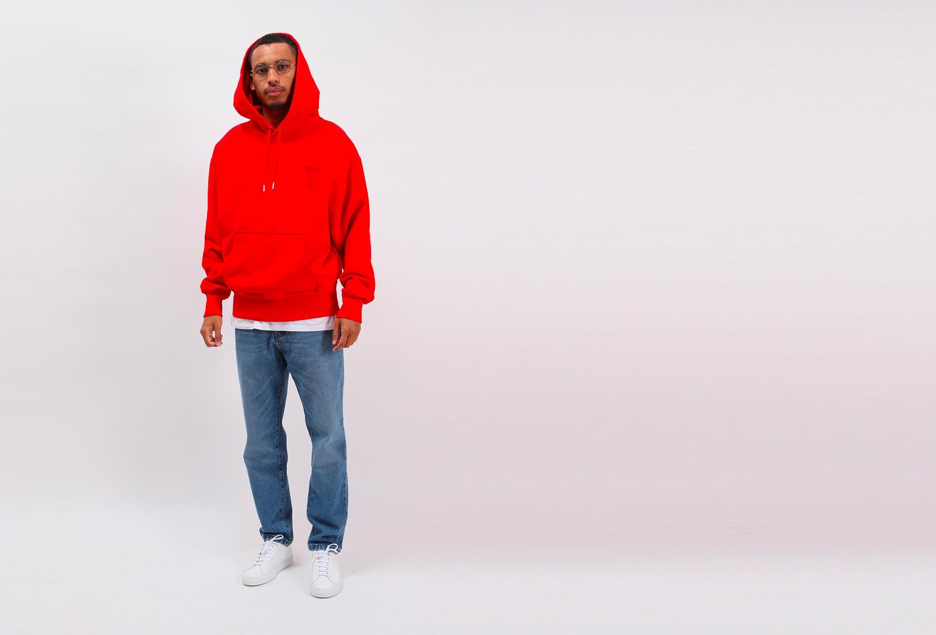 AMI / Big ami de coeur hoodie Rouge