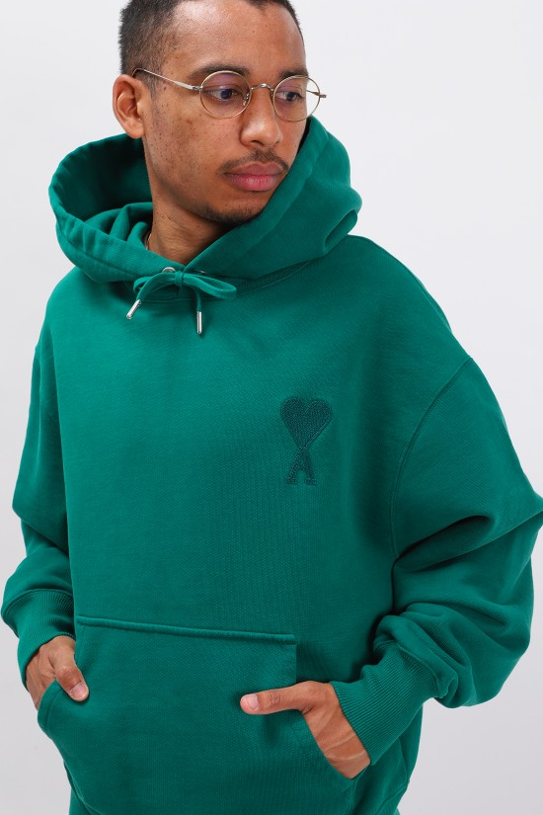 AMI / Hoodie ami de coeur Vert