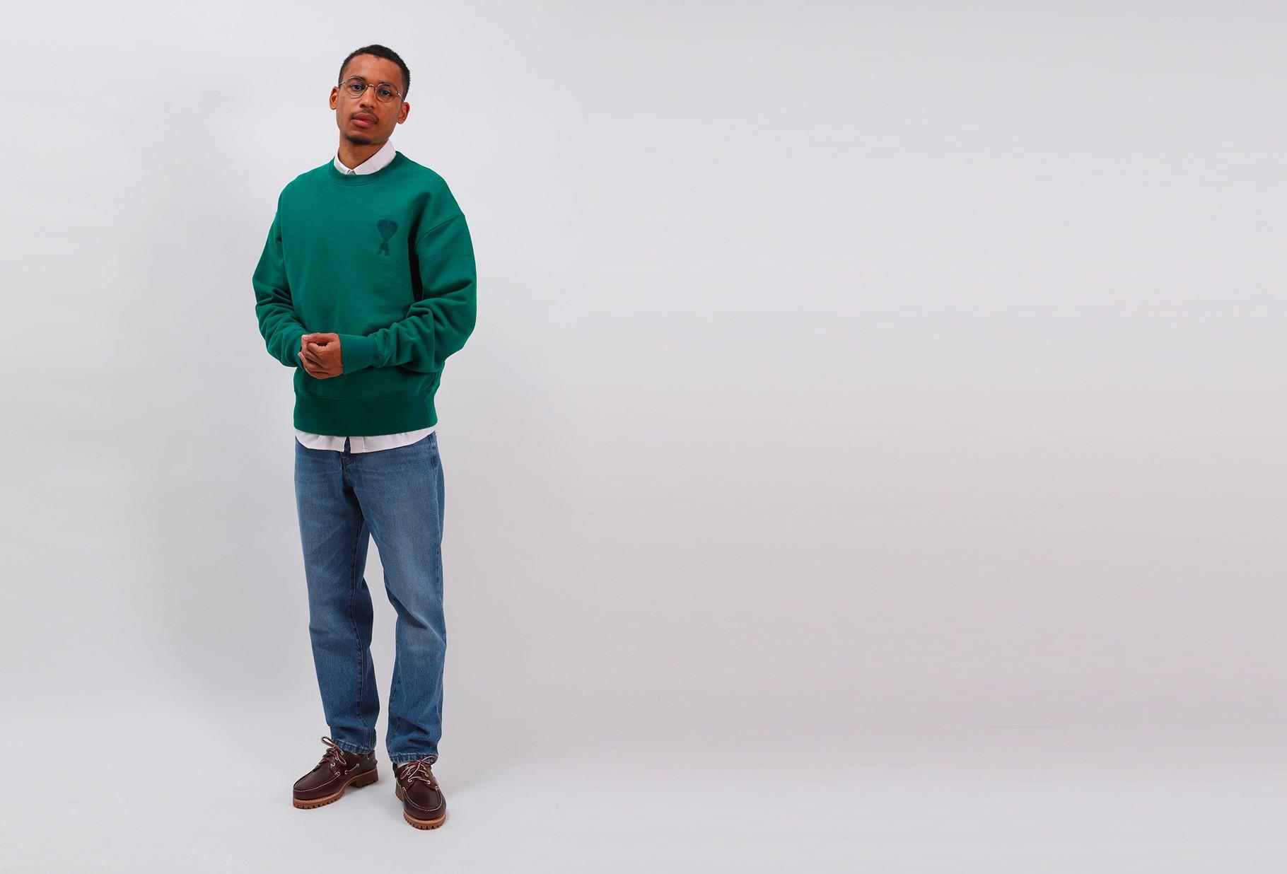 AMI / Big ami de coeur sweatshirt Vert
