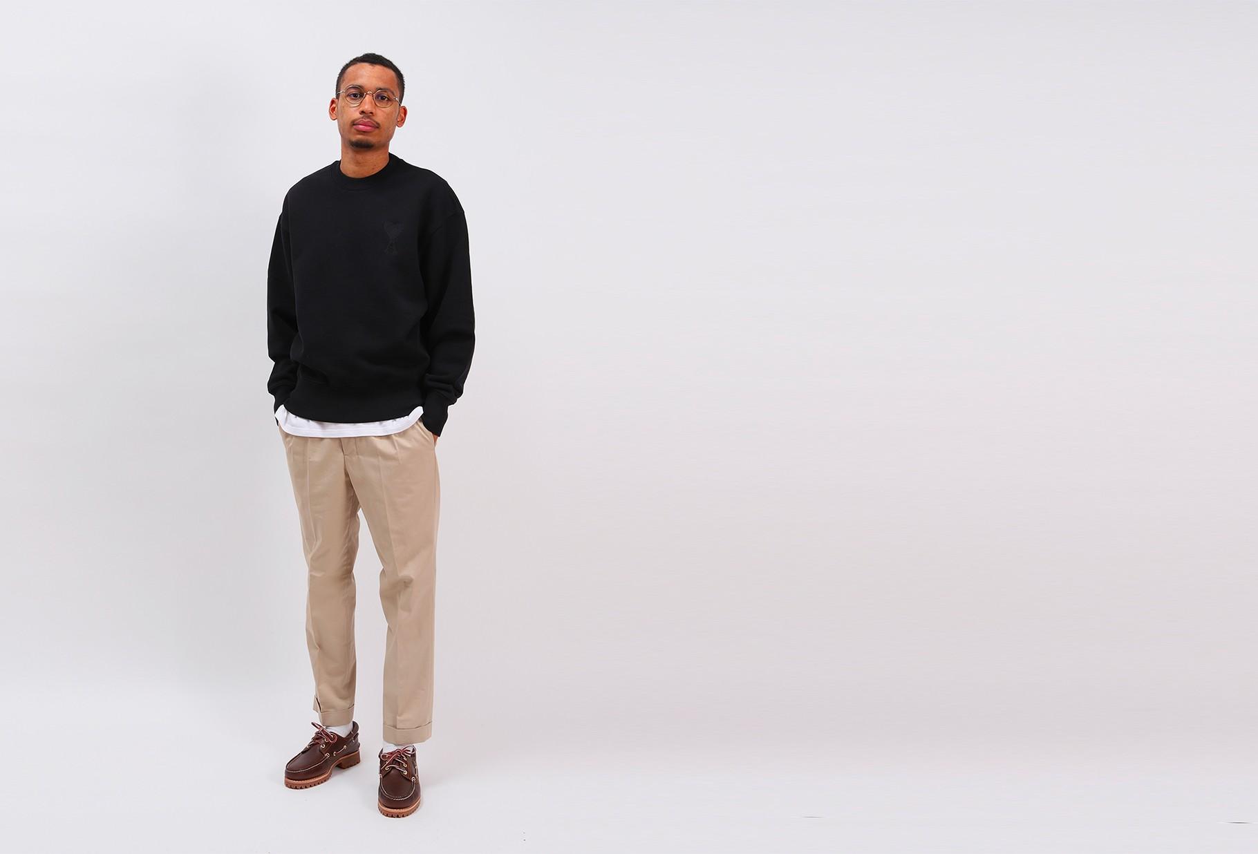 AMI / Big ami de coeur sweatshirt Noir