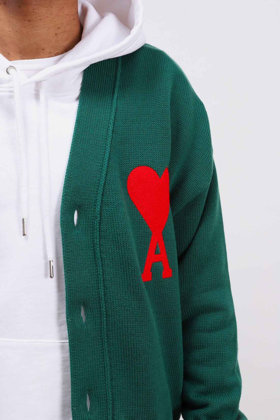 AMI / Cardigan ami de coeur oversize Vert
