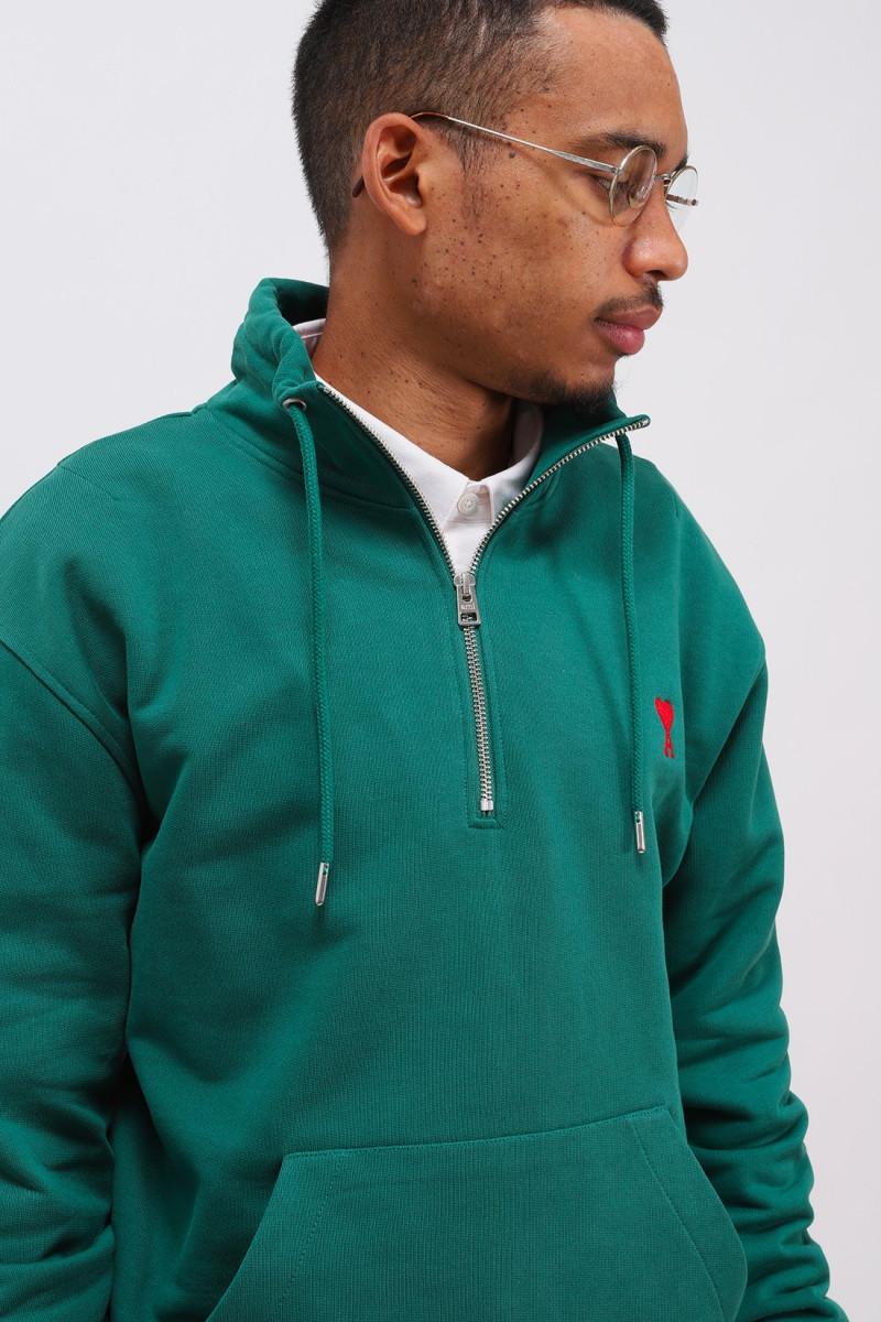 Sweatshirt zippe ami de coeur Vert