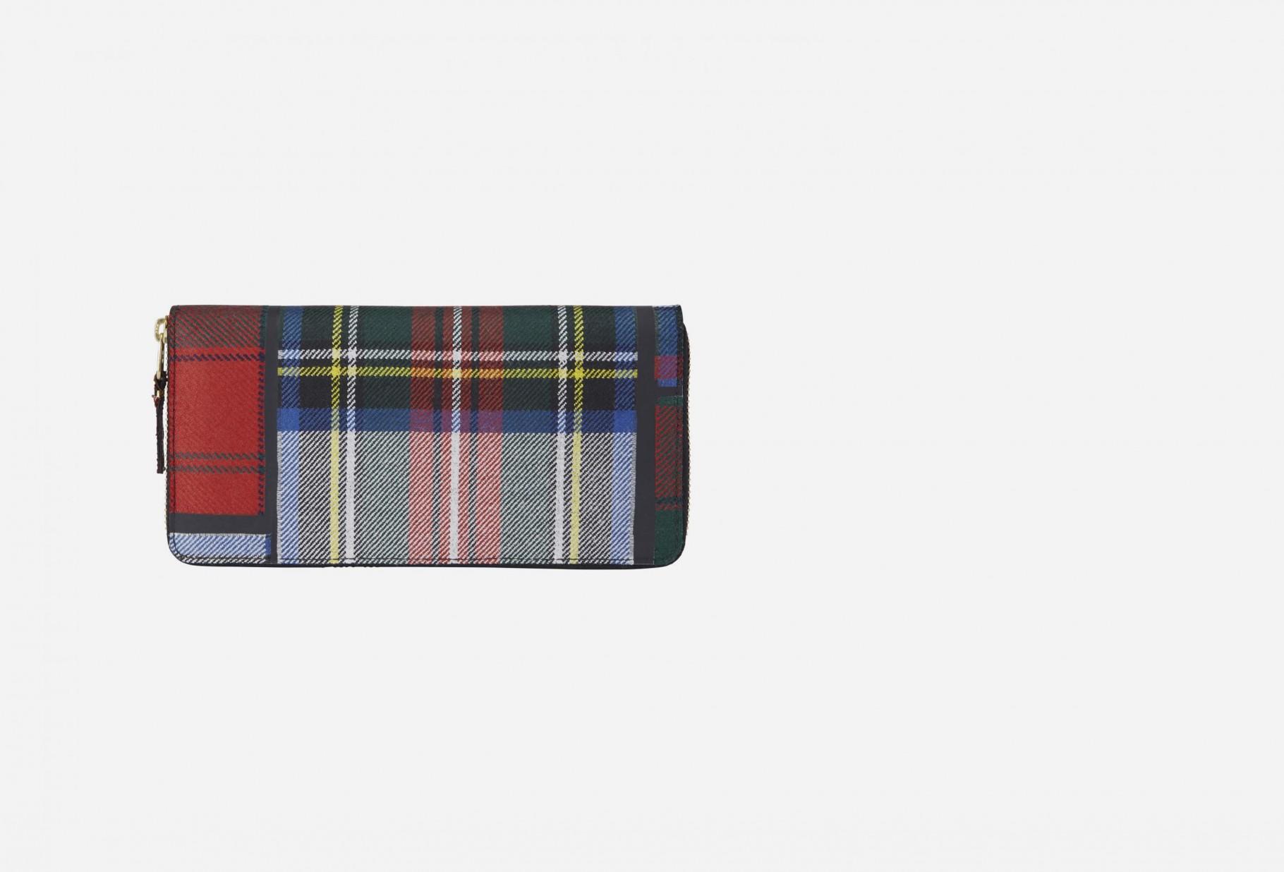 COMME DES GARÇONS WALLETS / Cdg wallet tartan patchwork Sa0110tp red