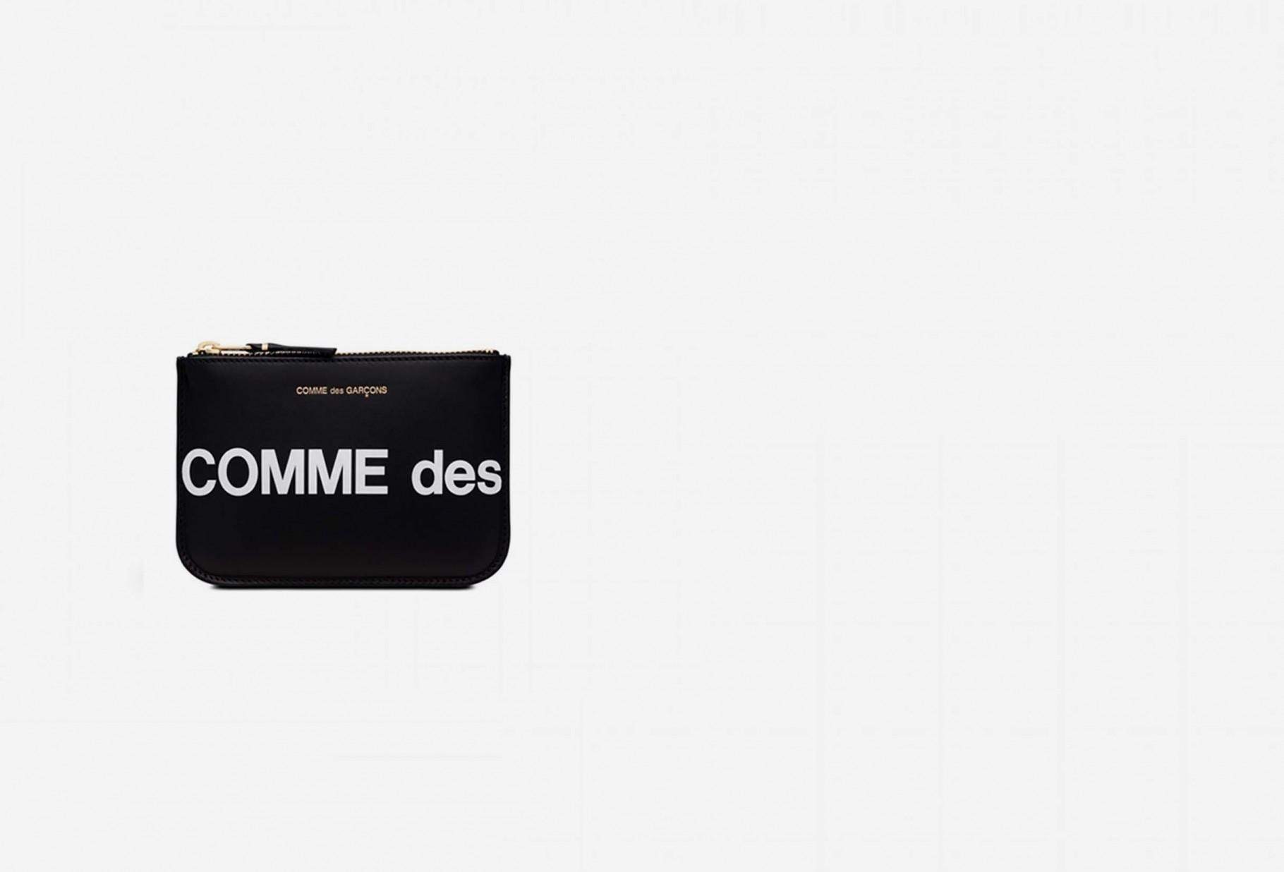 COMME DES GARÇONS WALLETS / Cdg huge logo wallet sa8100hl Black