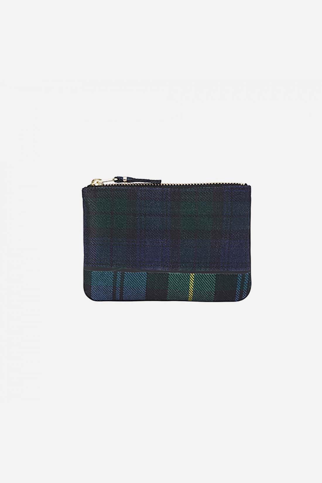 COMME DES GARÇONS WALLETS / Cdg wallet tartan patchwork Green