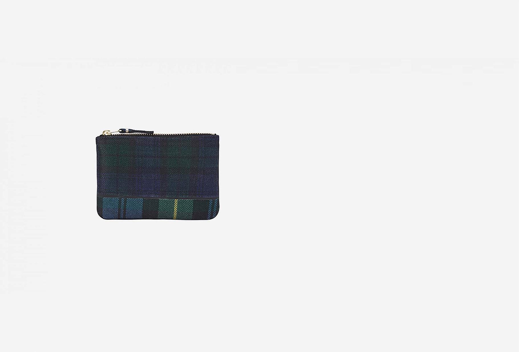 COMME DES GARÇONS WALLETS / Cdg wallet tartan patchwork Sa8100tp green