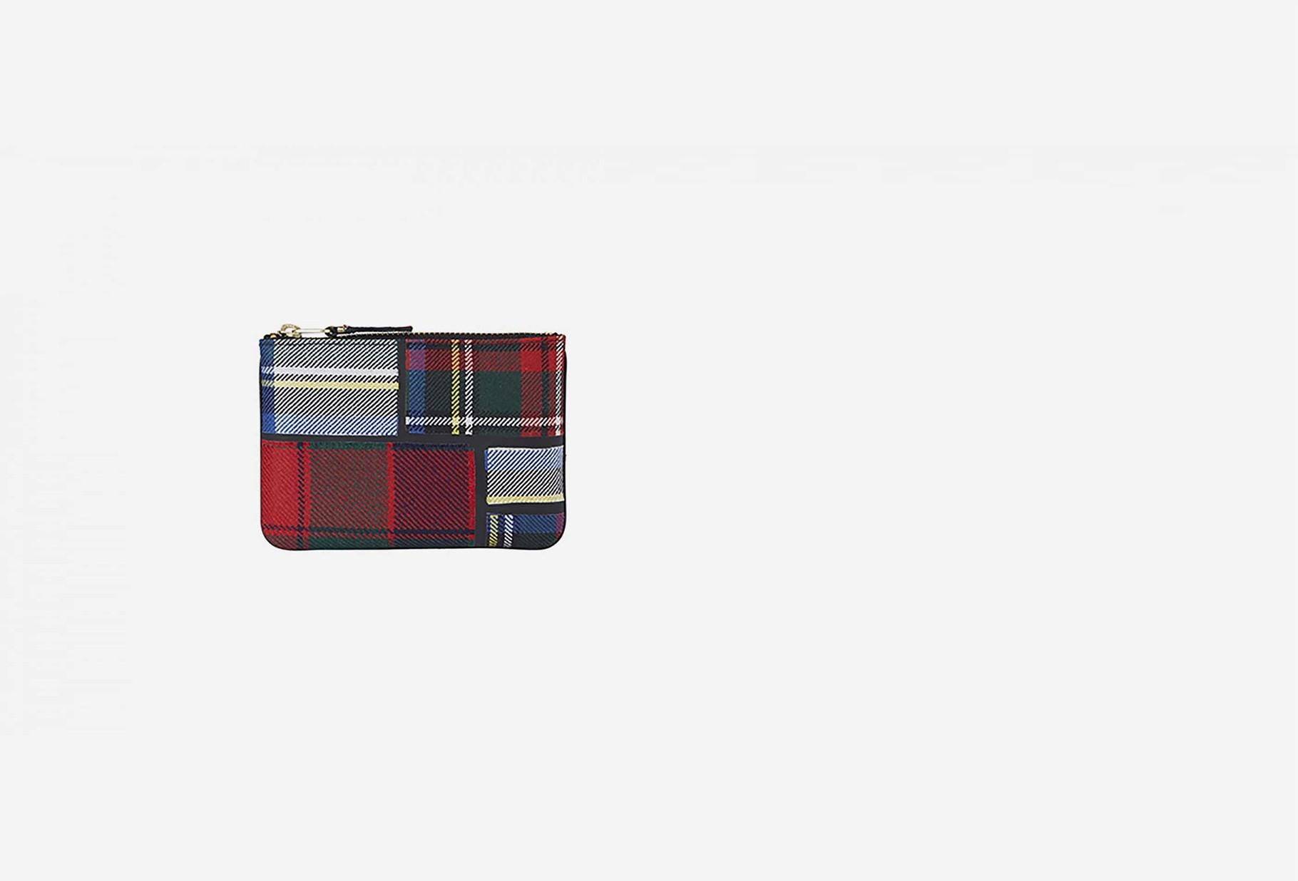 COMME DES GARÇONS WALLETS / Cdg wallet tartan patchwork Sa8100tp red
