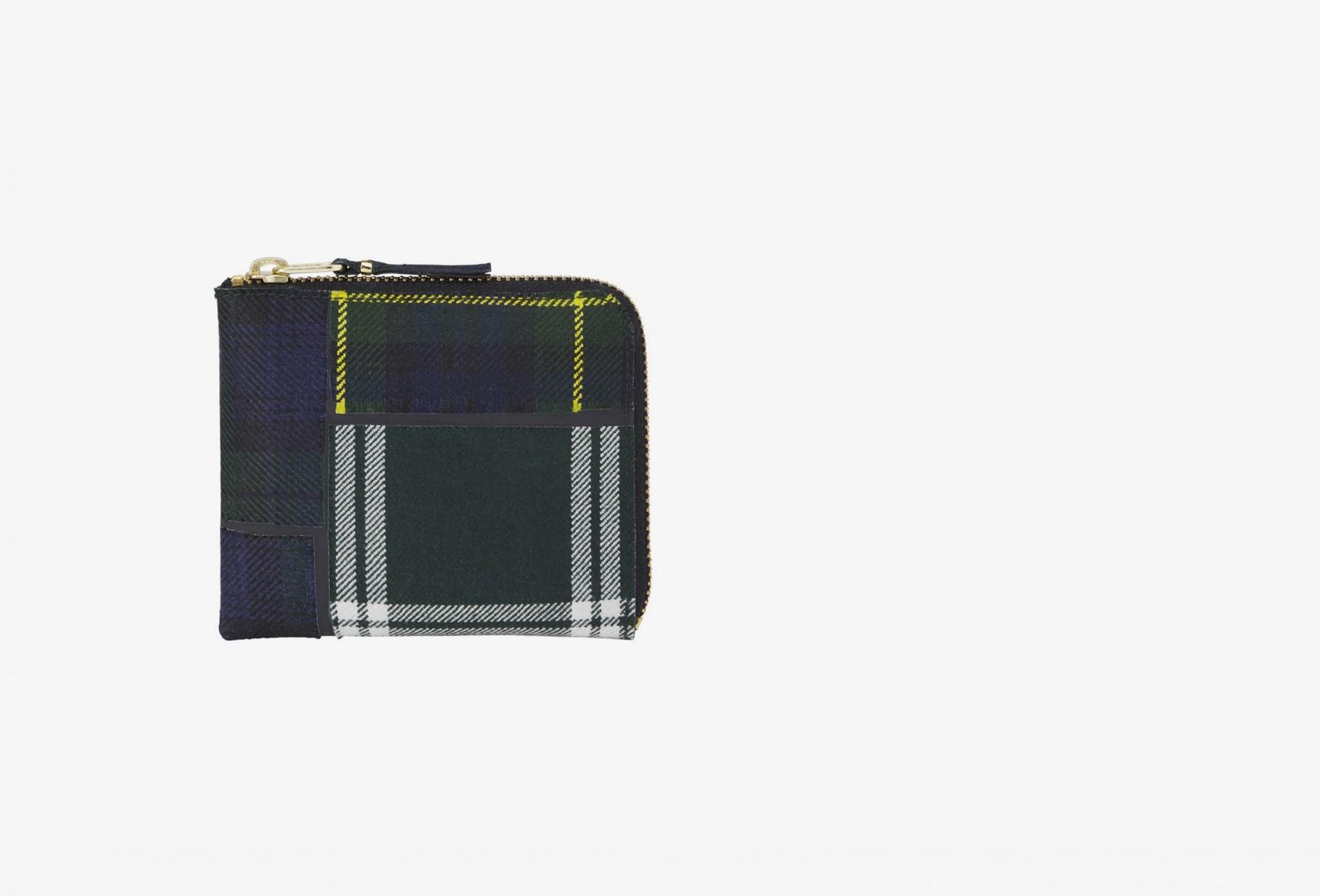 COMME DES GARÇONS WALLETS / Cdg wallet tartan patchwork Sa3100tp green