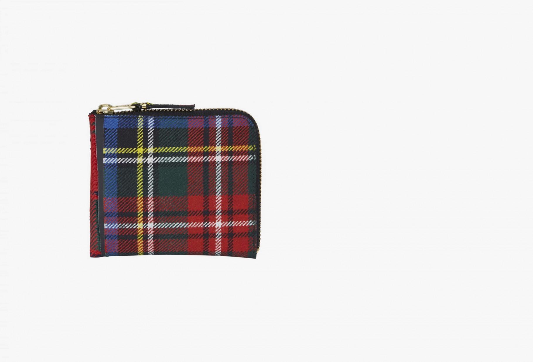 COMME DES GARÇONS WALLETS / Cdg wallet tartan patchwork Sa3100tp red