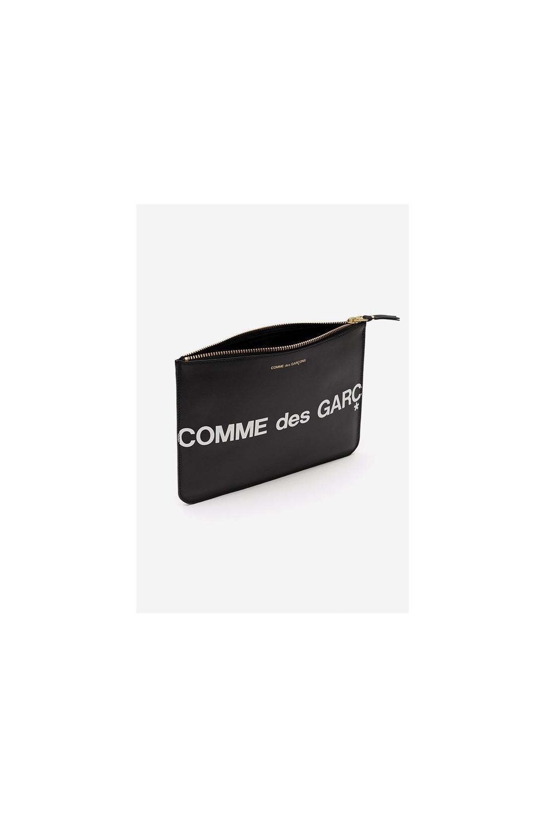 COMME DES GARÇONS WALLETS / Cdg huge logo wallet sa5100hl Black